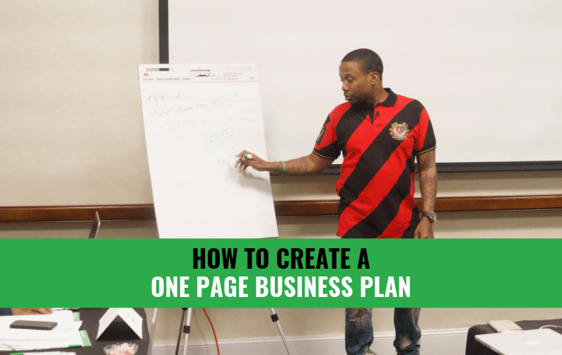 How To Create A One Page Business Plan